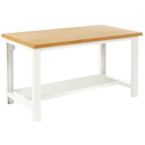 Arbetsbord Bott 200 cm linoleum med underhylla