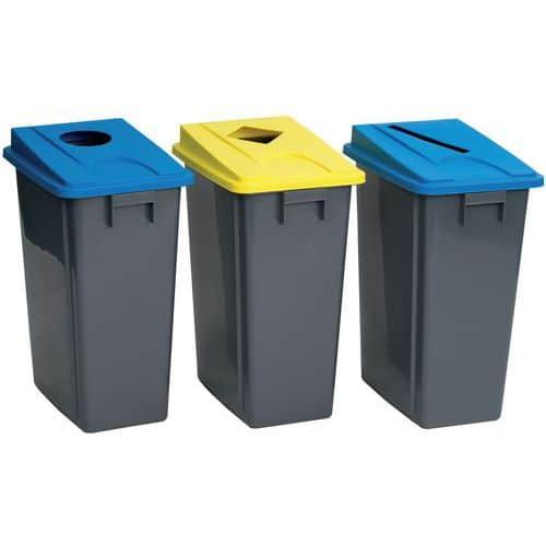 Avfallsbehållare med lock Manutan