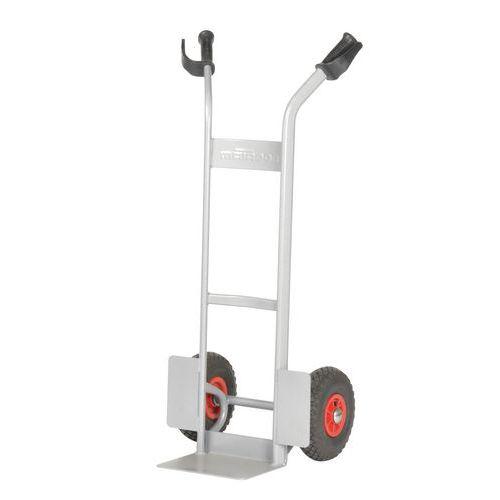 Magasinkärra 280 kg Luftgummihjul, grå