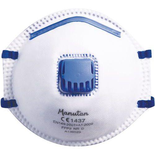 Vikbar halvmask FFP2 Manutan sats med 3 askar varav 1 gratis