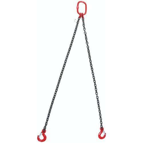 Kättinglänga krok 26 mm med/utan längdjustering, 2 kättingar