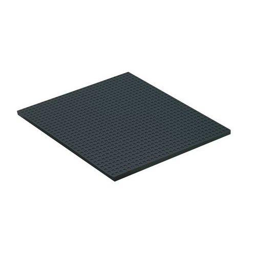 Vibrationsdämpare platta brun