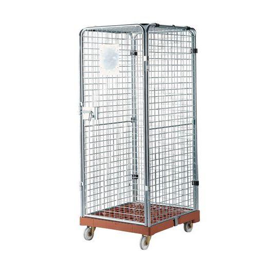 Rullcontainer plastunderrede låsbar