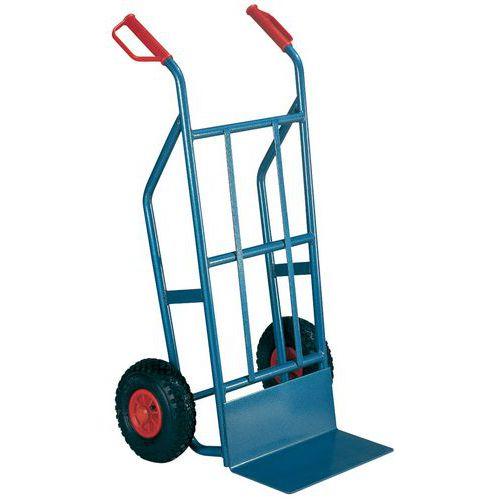 Magasinkärra 500 kg Luftgummihjul, blå