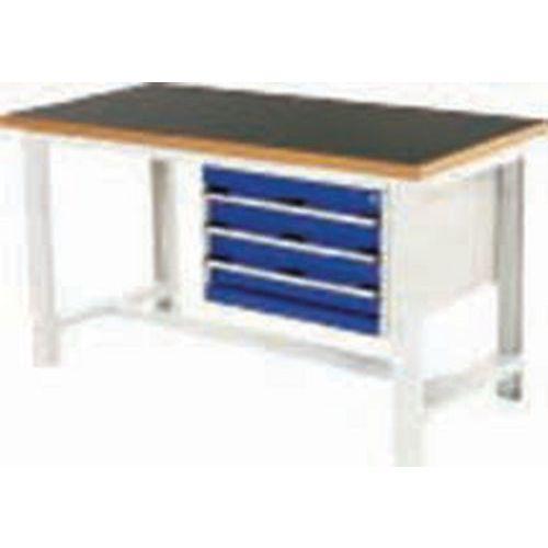 Arbetsbord Bott 200 cm fenol med 3 lådor