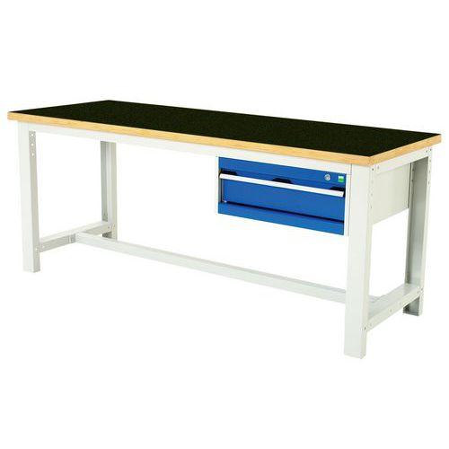Arbetsbord Bott 200 cm fenol med 1 låda
