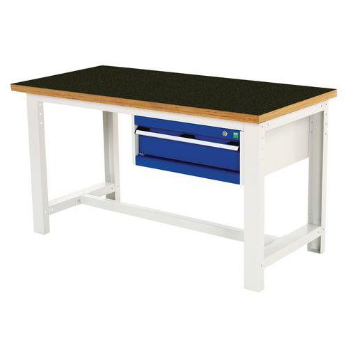 Arbetsbord Bott 150 cm fenol med 1 låda