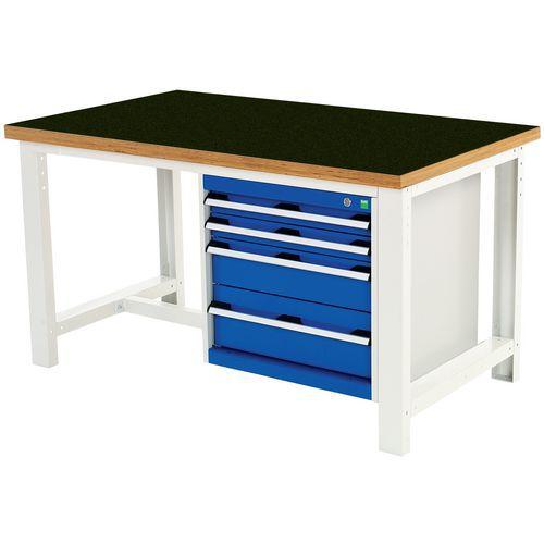 Arbetsbord Bott 150 cm fenol med 4 lådor