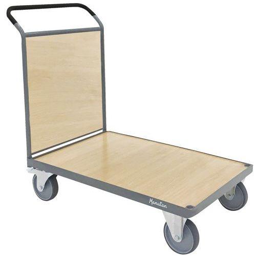 Platåvagn med ryggpanel Manutan 500 kg