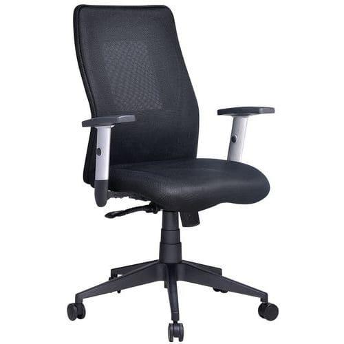 Penelope kontorsstol med medelhögt ryggstöd – Tyg – Manutan