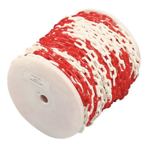 Plastkätting röd vit rulle