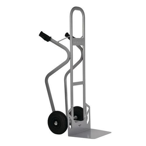 Magasinkärra i stål – Pneumatiska hjul – Kapacitet 350kg