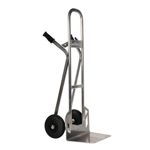 Magasinkärra i aluminium – Pneumatiska hjul – Kapacitet 350kg