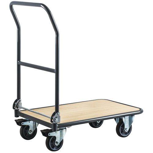 Vagn med fällbar rygg 250 kg - Manutan