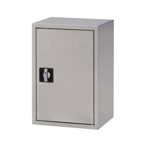 Skåp rostfritt vägghängt 1 dörr, bredd 40 cm