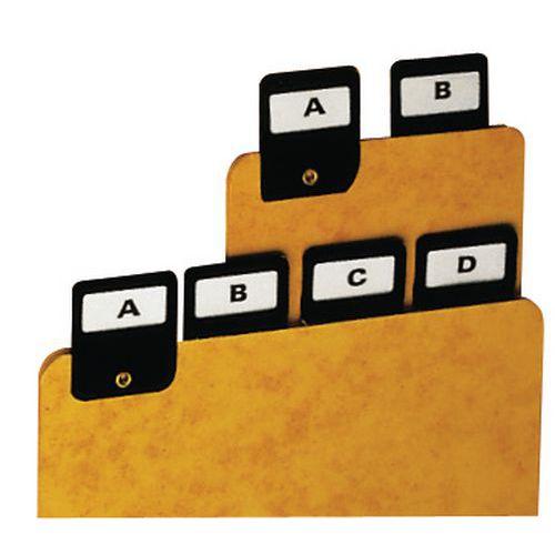 Register alfabetiskt A4-A6, 25 st