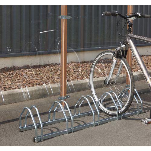 Cykelställ Manutan liggande. 3-5 platser