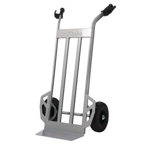 Magasinkärra 350 kg Luftgummihjul, grå