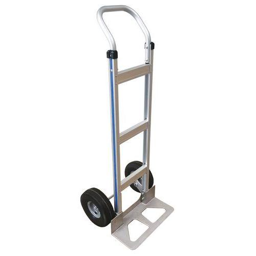 Magasinkärra i aluminium – Halvpneumatiska hjul – Kapacitet 150kg