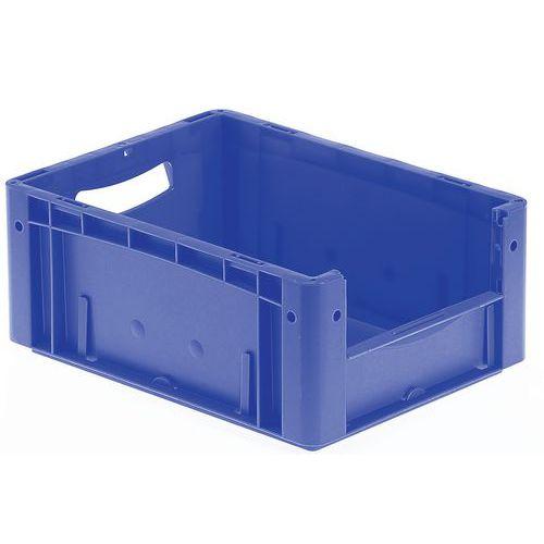 Plastback blå med halvöppen front 16-25 l