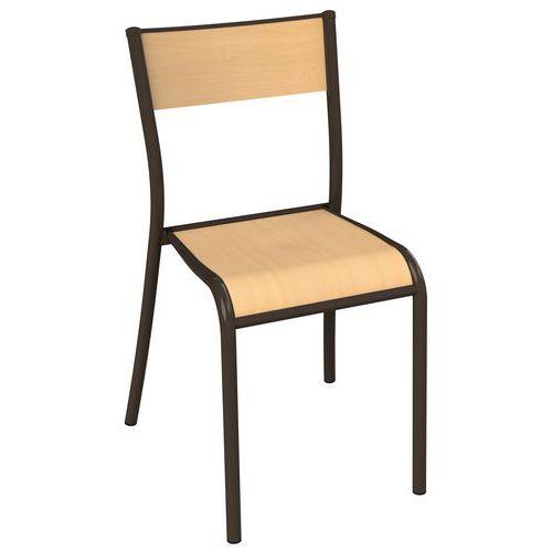Stol Cafeteria brun