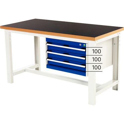 Arbetsbord Bott 150 cm fenol med 3 lådor