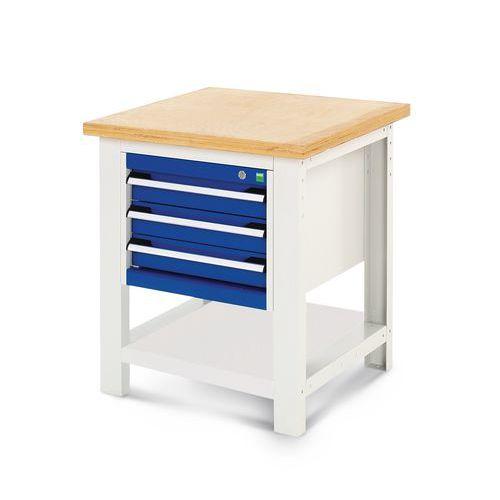 Arbetsbord Bott 75x75 med lådhurts