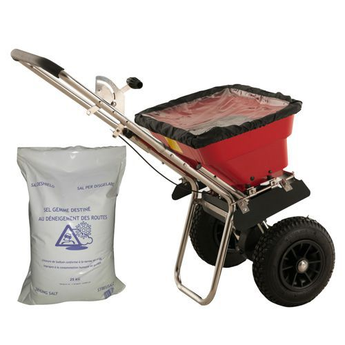 Paket - Saltspridare 37 kg + Tösalt 25 kg