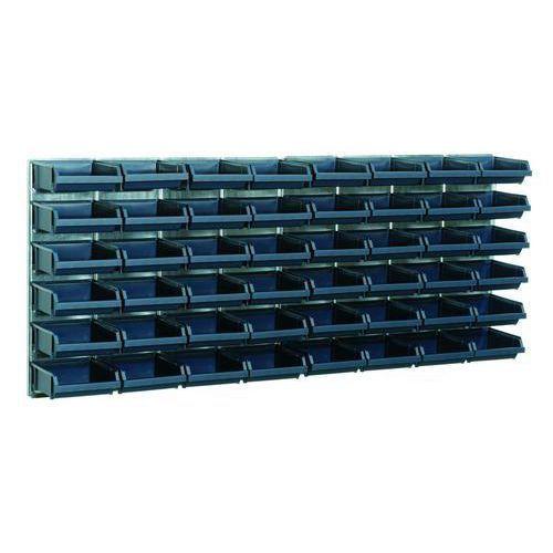Väggpanel inkl Blå modulbackar