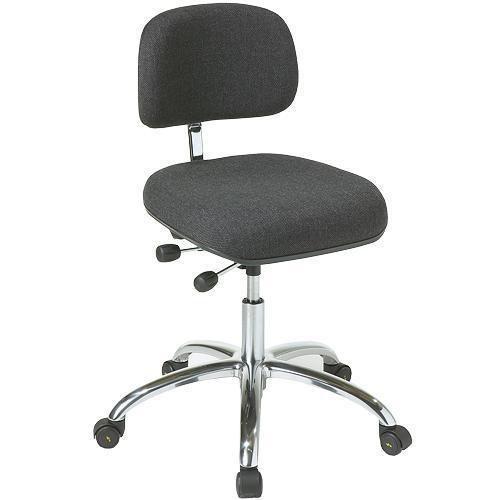 Arbetsstol ESD tyg, låg, hjul