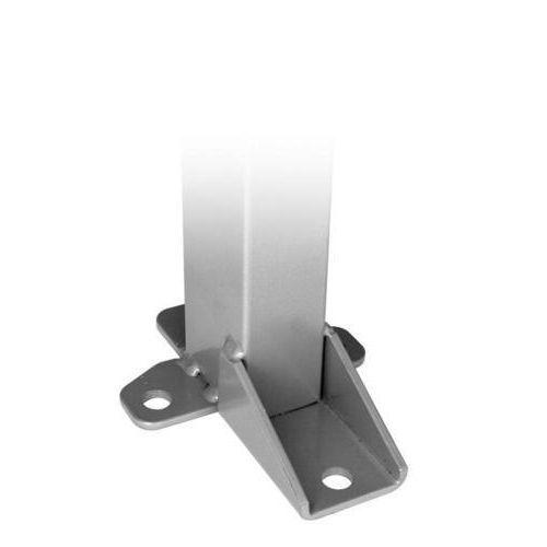 Stolpe inklusive stolpfot / Hörnbeslag för montering av hörn
