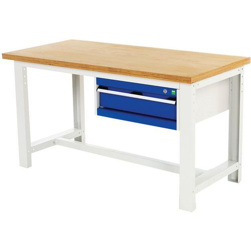 Arbetsbord Bott 200 cm plywood med 1 låda